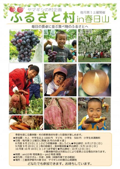 春日山ふるさと村チラシ2014-08~10-01