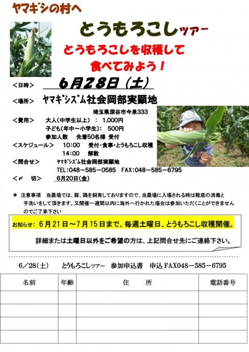 とうもろこし収穫ツア-20140628