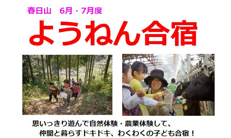 春日山ようねん合宿<br/>6月・7月スケジュール