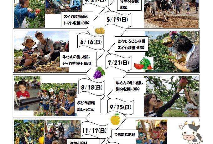 農場体験&とれたてランチ<br/>スケジュール2019